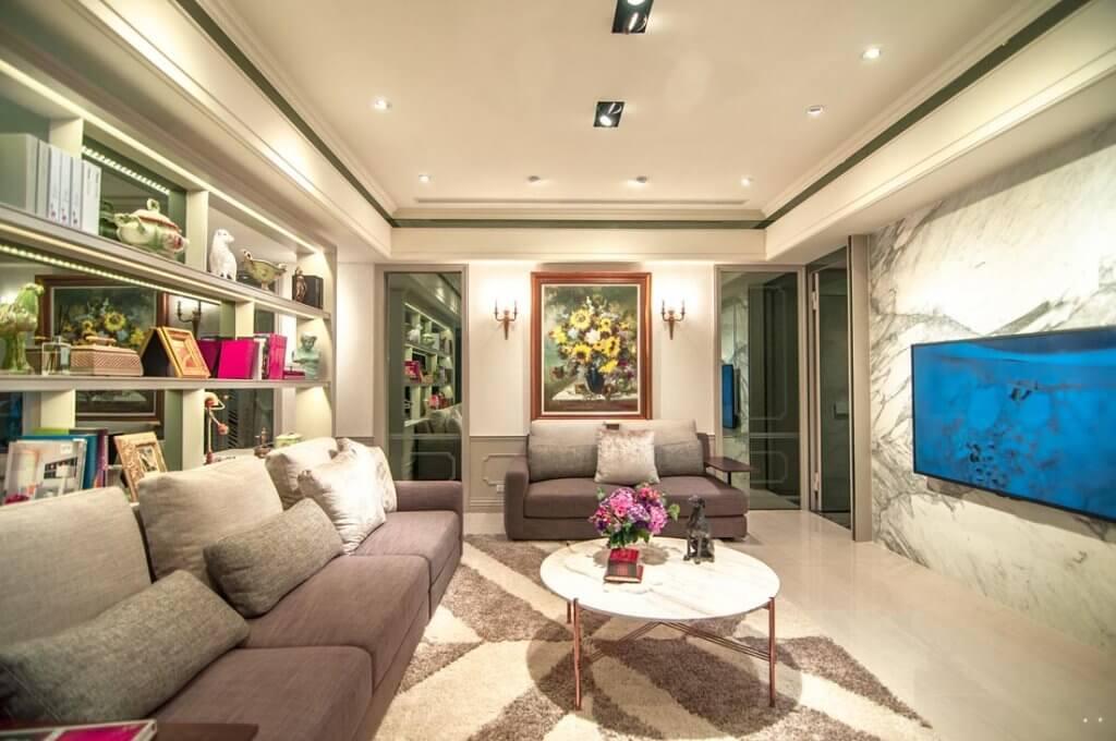 【時代州廳】三房48坪樣品屋一進門擁有大牆面客廳