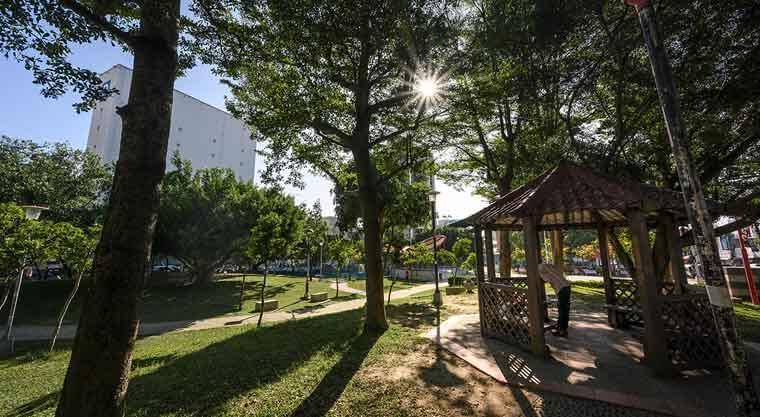 大雅公園三千坪綠意,從「坤悅雅樂」基地散步就到。