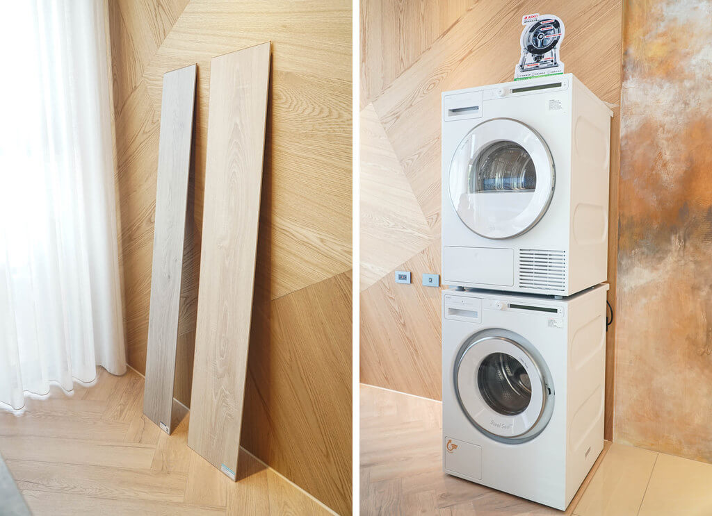 精晨臻城可選配最新的滾筒洗衣機與烘衣機