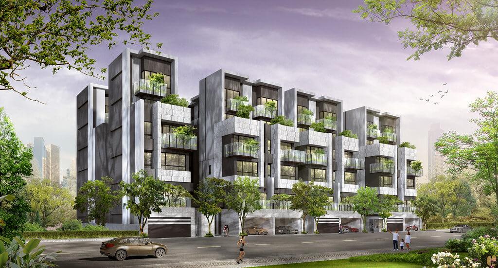精晨臻城外觀設計由七期豪宅大師陳俊宏設計規劃