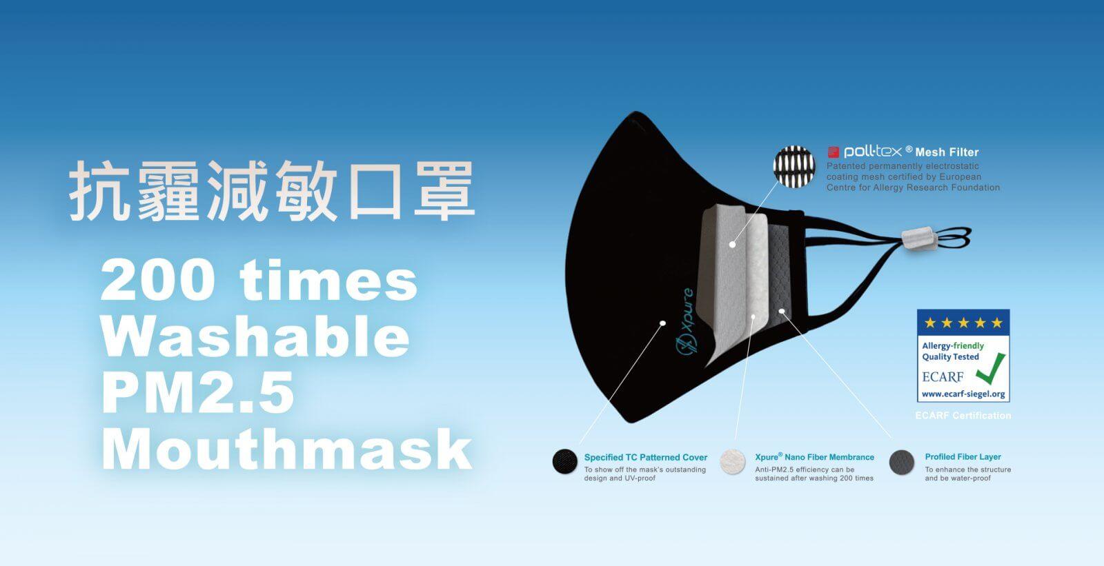 poll-tex抗霾減敏口罩可阻隔PM2.5